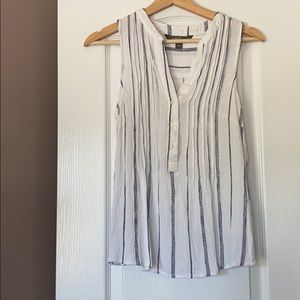 White sleeveless striped top from Market & Spruce